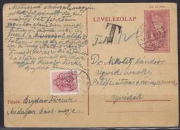"4593. WWII, Hungary, 1943, Postal Stationery, ""T"" - Postal Stationery"
