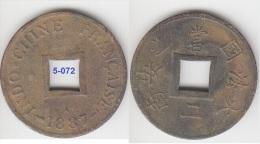 France Indochina 2 Sapeque 1887 KM# 6 - Viêt-Nam