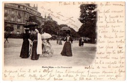 CPA 1902 ANIMEE PARIS VECU LA PROMENADE - Other