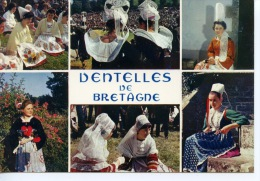 La Bretagne : Dentelles De Bretagne Multivues Léon Pont Aven Bigouden Chateauneuf Faou Plouguerneau Plougastel Daoulas N - Bretagne