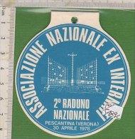 PO5489C# TARGHETTA ASSOCIAZIONE NAZIONALE EX INTERNATI 2° RADUNO NAZIONALE PESCANTINA (VERONA) 1978 - Altri