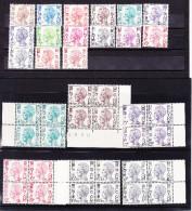BELGIQUE, SERVICE, 15 TIMBRES ET 10 BLOC DE 4, XX. (4TJ101) - 1970-1980 Elström