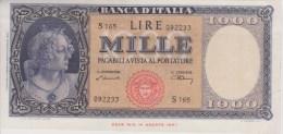 Billet 1000 Lire Banca Italia 9 Février 1948 - 1000 Lire
