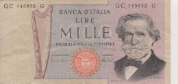 Billet 1000 Lire Banca Italia 26 Février 1969 - 1000 Lire