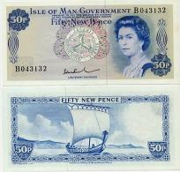 ISLE OF MAN       50 New Pence       P-28b       ND (1972)       UNC - Eiland Man/ Anglo-Normandische Eilanden