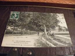 A151.CPA..30..GARD..CALVISSON..Avenue De La Gare.... Rare Beau Plan Animé..ecrite & Voyagée 1909 - Frankrijk