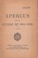 APERCUS GUERRE 1914 1918 COLONEL BLIN ETUDE HISTORIQUE STRATEGIE TACTIQUE FRONTS