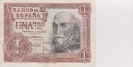 Espagne Billet 1 Peseta Juillet 1953 - [ 3] 1936-1975 : Régence De Franco