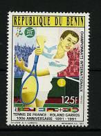"Rep. Benin ** N° 693 - ""Tournoi Du Cent. ""Roland Garros 91"" - Bénin – Dahomey (1960-...)"