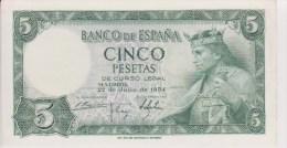 Espagne Billet 5 Pesetas Juillet 1954 - [ 3] 1936-1975 : Régence De Franco