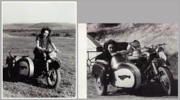 MOTO / MOTORCYCLE : MZ [ MOTORRADWERK ZSCHOPAU  ] - 2 PHOTOS / 2 PHOTOGRAPHS - SIZE : 9 X 12 CM ~ 1960 (q-103) - Motorräder