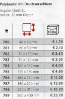Größte Polybeutel Mit Verschluß 2x100 Neu 47€ Schutz/Einsortieren Lindner #789 Bags 300x400mm For Stamps+letter Of World - Briefmarken