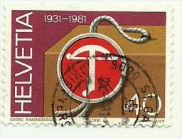 1981 - Svizzera 1136 Stemma C3330, - Francobolli