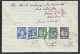 ROUMANIE - 1931 - LETTRE RECOMMANDE DE TARGOVIE POUR LA CELEBRE MAISON JEAN PATOU HAUTE COUTURE A PARIS - - Marcofilia