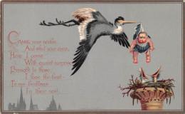 ¤¤  -   Faire Part De Naissance De 1880  -  Bébé , Cigogne , Oisillons -  ¤¤ - Sin Clasificación