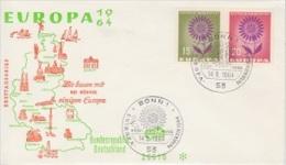 Europa Cept 1964 Germany 2v FDC (12919) - 1964