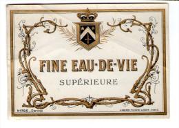 Spécimen D'étiquette , N° 795 , Haberer , Plouviez & Douin , FINE EAU DE VIE Supérieure, 2 Scans - Etiquettes