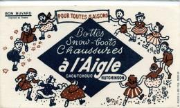 Buvard  Marque  Bottes, Snow-boots, Chaussures  à L' Aigle  Caoutchouc  HUTCHINSON - Papel Secante