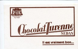 Buvard  Alimentaire, Chocolat   Turesne  à  SEDAN - Papel Secante