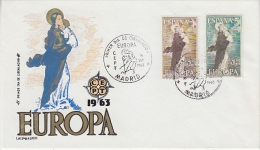 Europa Cept 1963 Spain 2v FDC (12927) - Europa-CEPT