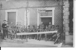 Soldats Et Marins Allemands à La Cantine Panneau Kantine Belgique? 1 Carte Photo 1914-1918 14-18 Ww1 WwI Wk - War, Military