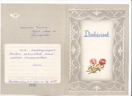 FLOWERS, ROSES, ENVELOPED TELEGRAMME, SPECIAL ENVELOPE, CODE DT26 - Roses