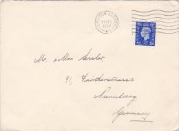 CROYDON SURREY, STAMP ON COVER, 1937 - 1902-1951 (Kings)