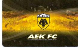 GREECE  AEK F.C ARENA PASSPORT, SEASON 2009-2010-USED - Sport