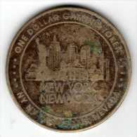 $1 Gaming Token : Jeton Slot Machine : New York New York Casino : Las Vegas NV - Casino