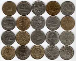Lot De 20 X 25¢ Different Casino Gaming Tokens : Jetons Slot Machine : USA (hors Nevada) - Casino