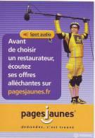 CARTE POSTALE PUBLICITAIRE PAGES JAUNES - Publicité