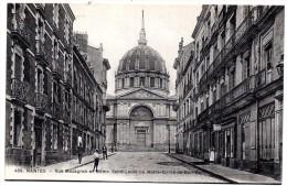 CP, 44, NANTES, Rue Mazagran Et Dôme Saint-Louis Ou Notre-Dame-de-bon-port, Vierge, Ed : F. Chapeau - Nantes