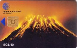 MONTSERRAT VOLCAN VOLCANO SOUFRIERE HILLS 10$ SUPERBE - Volcans
