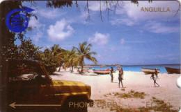 ANGUILA BEACH 10$ N° 1 CAGB..... BIG NOTCH  RARE - Anguilla