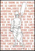 CPM - Rolland BOUEXEL - Illustration Présentant La Série De 32 Cartes Sur Le Pain - 1986 - Tirage Limité - Illustrateurs & Photographes