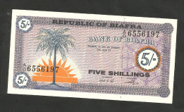 [NC] BIAFRA - BANK Of BIAFRA - 5 SHILLINGS (1967) - Banconote