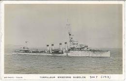 CPSM Bateaux - Torpilleur Enseigne Gabolde - Guerra
