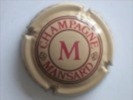 CAPSULE MUSELET CHAMPAGNE  MANSARD (rouge Et Marron Sur Beige) - Mansard