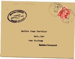 HAUTE MARNE De POISSONS Env. Du 20/07/1950 Avec Cachet A6 - Marcophilie (Lettres)