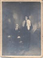 MARIA LUISA MEZZARIO DE LAZZATI CON GAFAS ANTEOJOS ANTEOJO Y SU MARIDO CIRCA 1880 FOTOGRAFIA BUENOS AIRES ARGENTINA - Foto Dedicate
