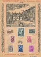 Série Complète RUBENS (504/511) Sur Feuillet Souvenir 1er Jour 1/7/1939  -- VV525 - Feuillets