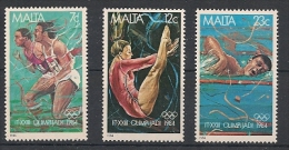 Malta 1984 Olimpiadi  3v.  Nuovi** 1.10