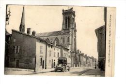 Cp , 51,  CHÂLONS SUR MARNE , église Et Rue Saint Loup , écrite 1918 - Châlons-sur-Marne