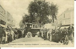 - CPA - LANGON , Rare Carte Postale Transports PURREY-autobus Purrey, Belle Animation- 10230 - Langon