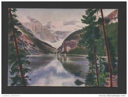 OLD VINTAGE ADVERT POSTCARD Tobacco Cigar Godfrey Phillips CANADA ALBERTA LAKE LOUISE - Lac Louise
