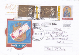 AUGUSTIN MAIOR, THE TELEPHONE INVENTOR, STAMPS ON PAIR, REGISTERED COVER, 2001, ROMANIA - Physics
