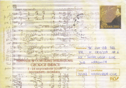 GEORGE ENESCU, ROMANIAN MUSICIAN AND COMPOSER, POSTAL STAIONERY, IMPRINTED POSTAGE, 2003, ROMANIA - 1948-.... Républiques