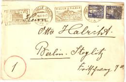 Brief SOWETSKAJA ZENSURA Kyrillisch 5.10.1949 Halle SAALE N Berlin West Steglitz RUSSIA Сове&#10 - Sowjetische Zone (SBZ)