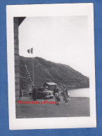 Photo Ancienne - Grand Saint Bernard Vers Aoste - Belle Automobile à La Frontiére Italo Suisse - Douane - Cars
