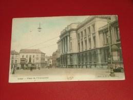 LIEGE  -     Place De L' Université  -  1905 -  (2 Scans) - Luik